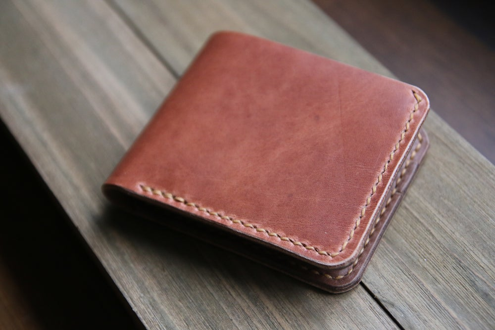 Image of Traditional Bifold Wallet in Horween Natural Dublin