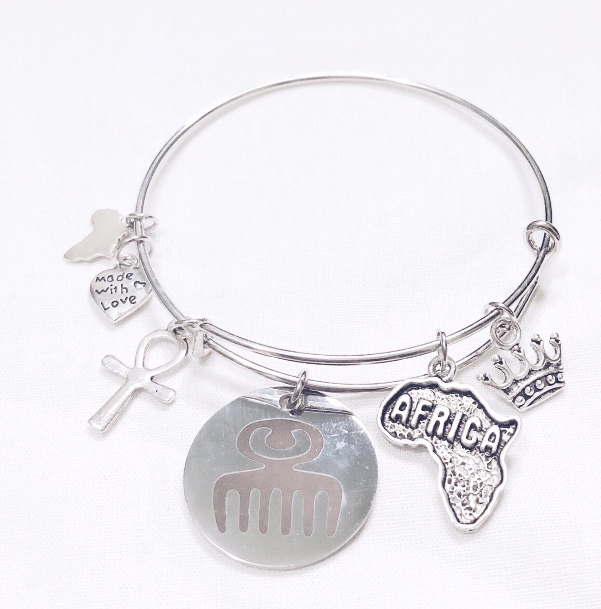 Image of Adinkra Duafe Bangle