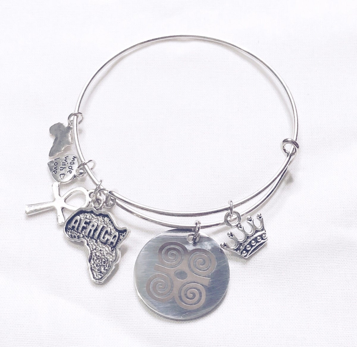 Image of Adinkra Dwennimmen Bangle