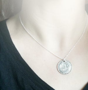 Image of Vintage Silver Shilling Coin Necklace - Sterling Silver