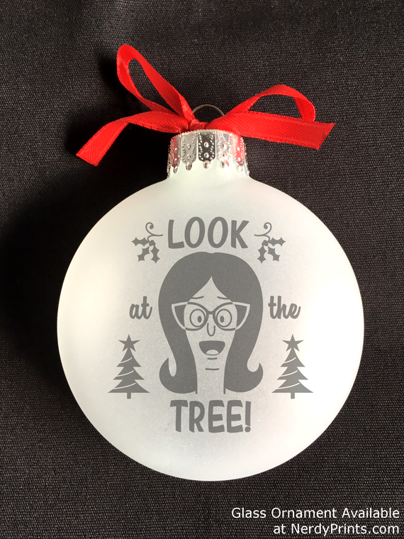 "Image of Linda Belcher Etched Christmas Ornament - ""Look at the Tree!"""