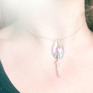 Image of Dewdrop Crystal Choker - Aura Quartz