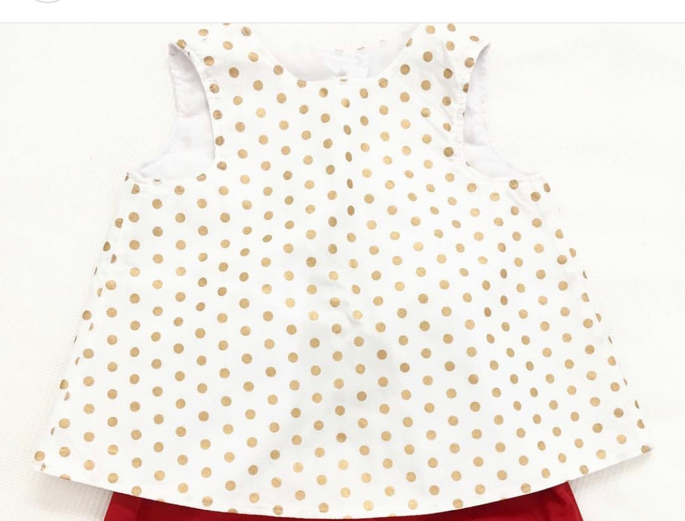 Image of Golden spots backless top