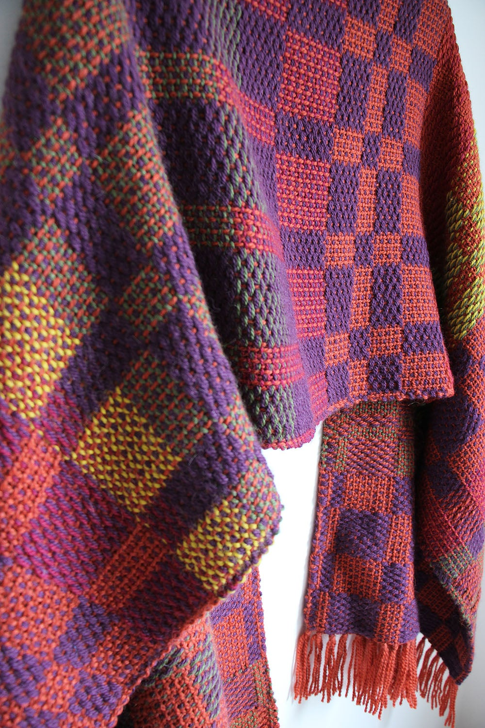 Image of Custom Patterned Woven Shawl // MADE TO ORDER