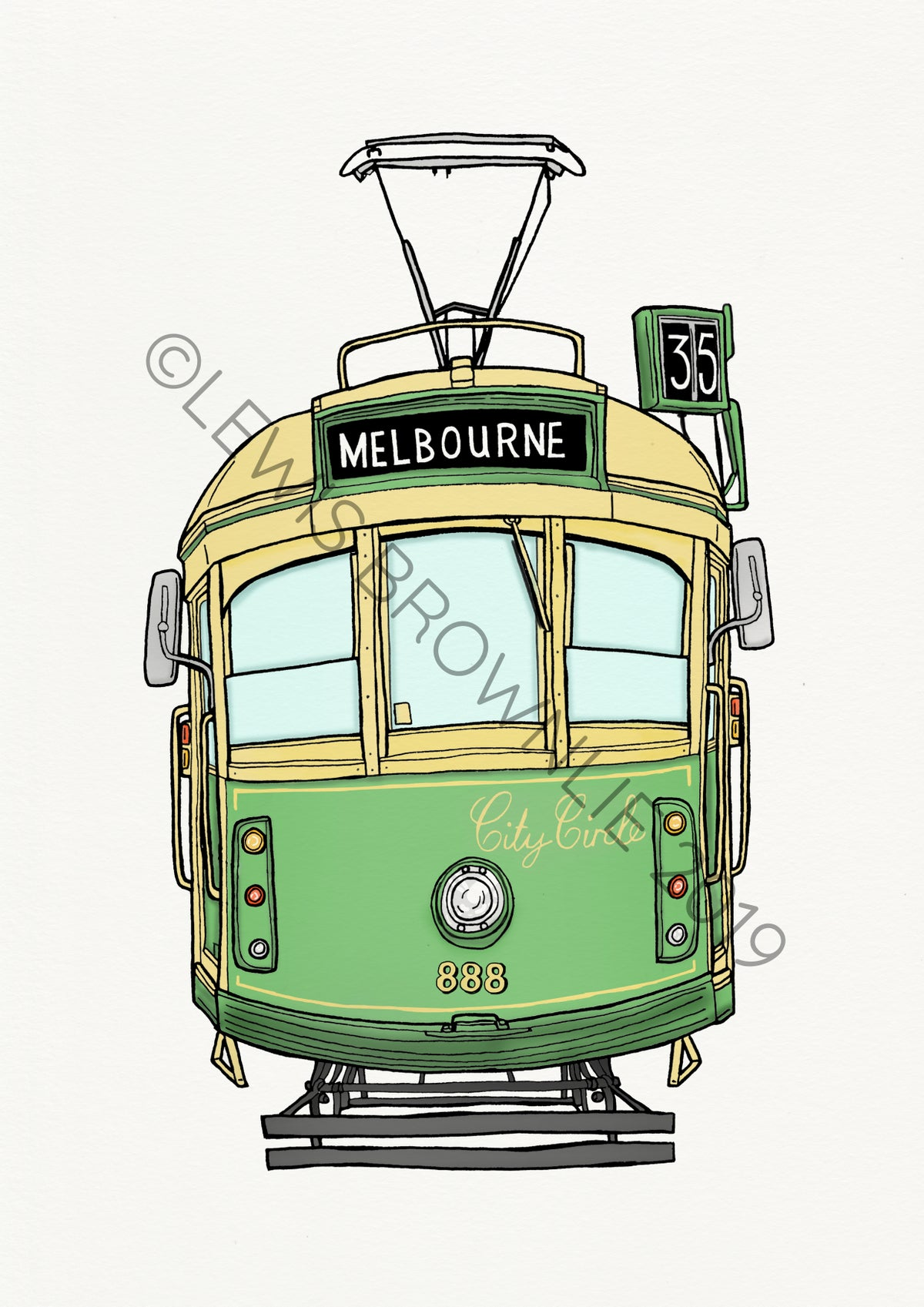 Image of City Circle Tram Melbourne - Limited Edition Giclee Colour Print