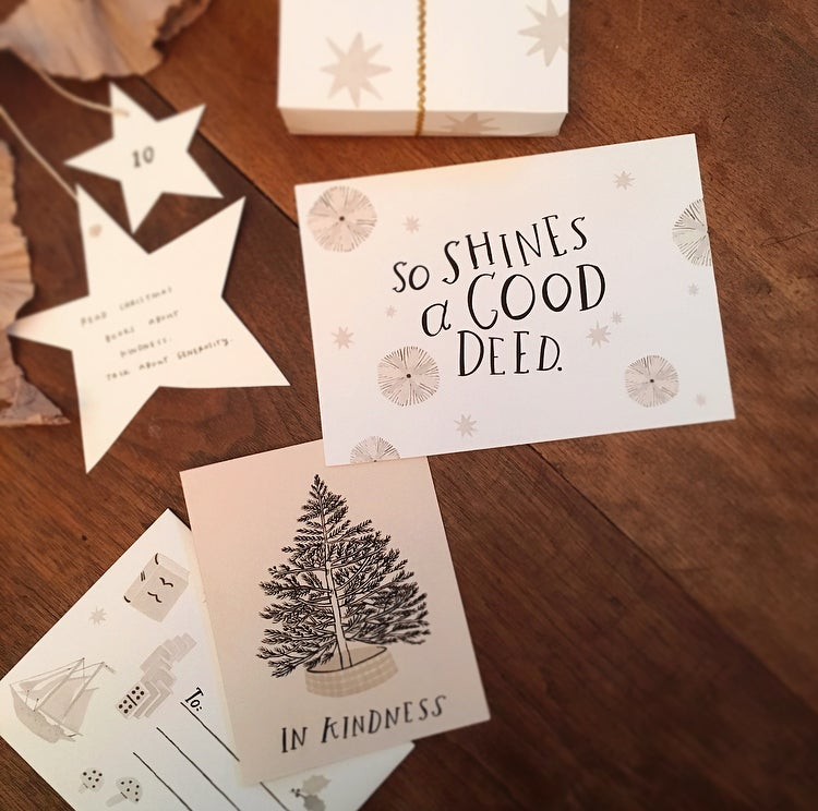 Image of A Kindhearted Christmas, printable advent kit