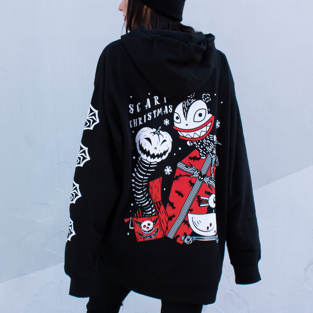 Image of Scary Christmas pullover hoodie