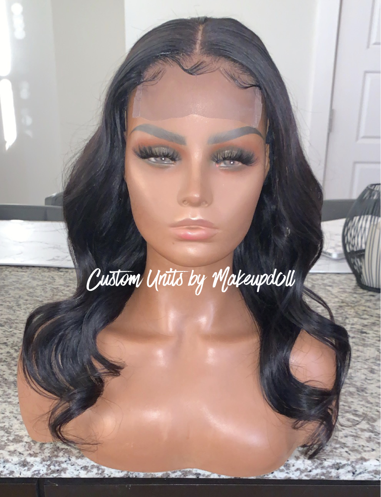 "Image of Brazilian Body Wave 18"" Closure Wig!"