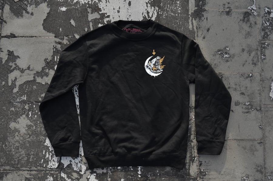 "Image of ""We All Burn The Same"" Black Crewneck Sweatshirt"