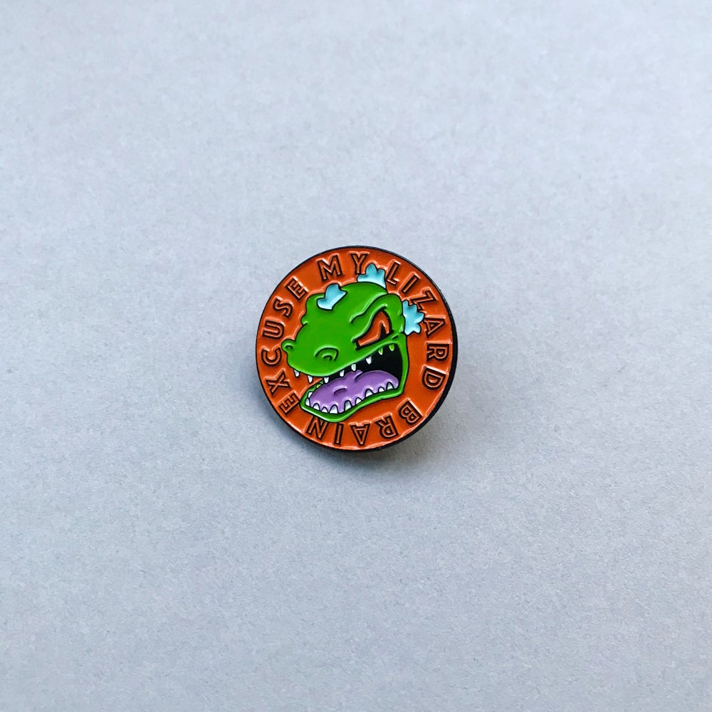 Image of 'Lizard Brain' Pin
