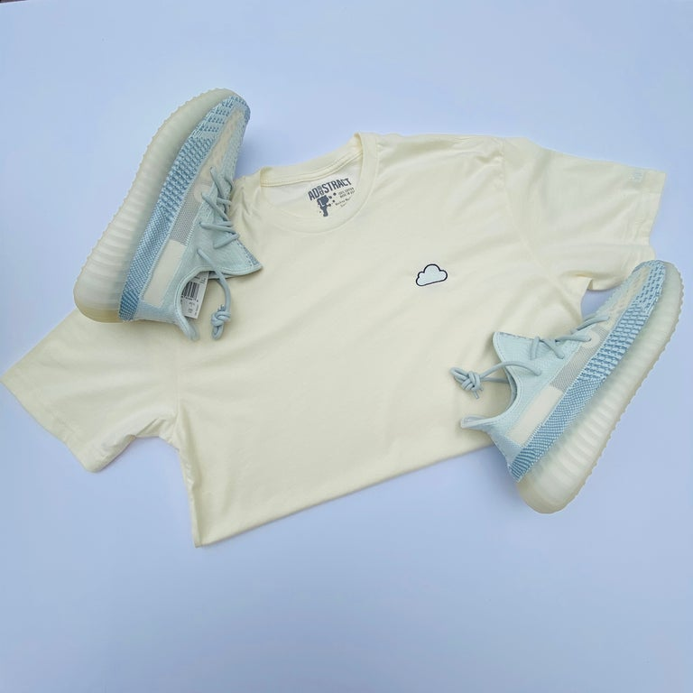 """CLOUD """"WHITE CLOUD/CITRIN"""" EMBROIDERY T-SHIRT & HOODY"""