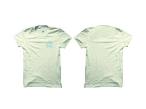 """Image of YEEZY CROSSBONES """"WHITE CLOUD/CITRIN"""" EMBROIDERY T-SHIRT & HOODY"""
