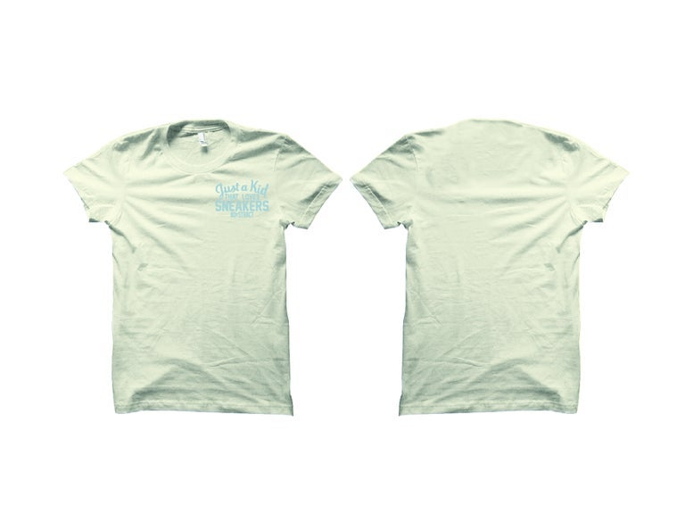 """JUST A KID THAT LOVES SNEAKERS """"WHITE CLOUD/CITRIN"""" EMBROIDERY T-SHIRT & HOODY"""