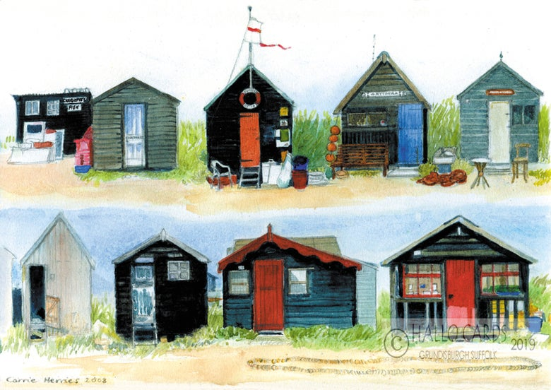 Image of Fishermen's Huts - Southwold - Suffolk