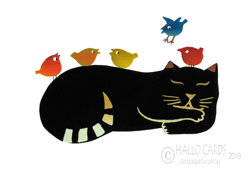 Image of Cat and Birds