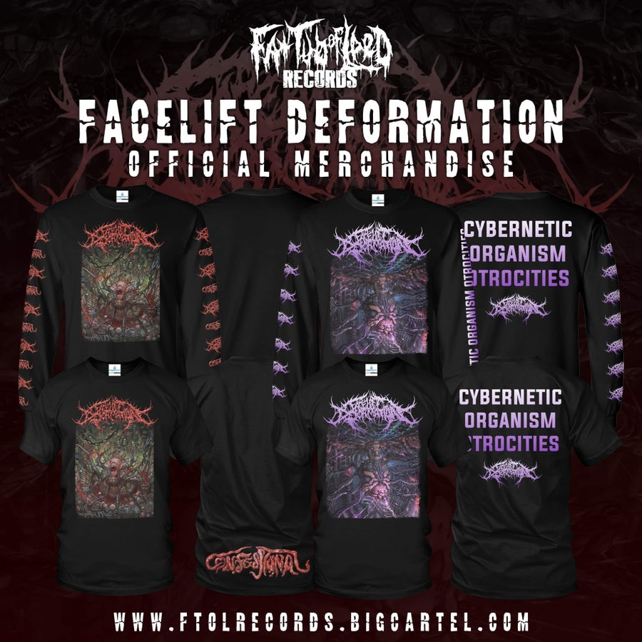 """Image of *PREORDER*FaceliftDeformation""""CyberneticOrganismAtrocities"""" """"Confession"""" short/long sleeves"""