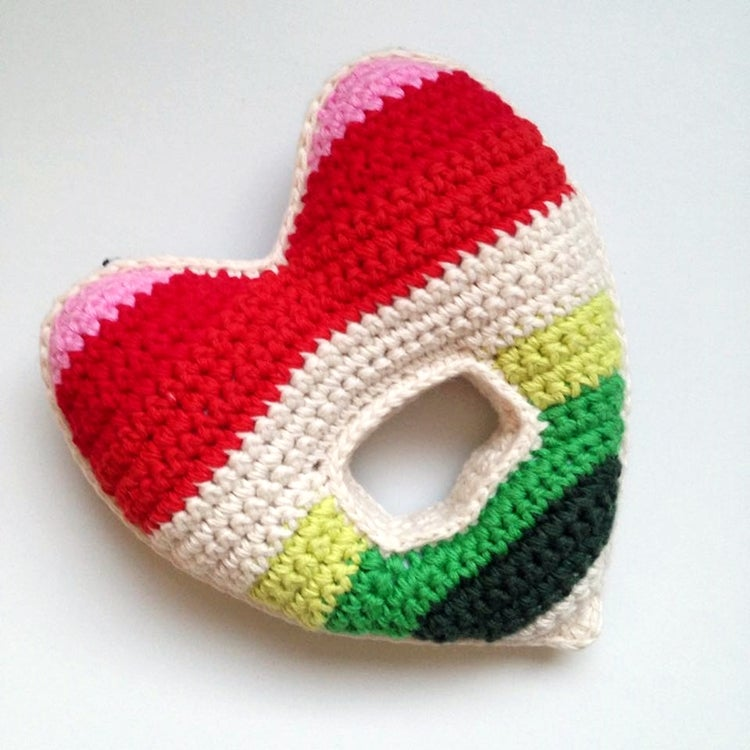 Image of Anne Claire Petit Heart Baby Rattle