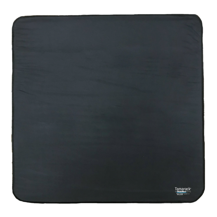 "Image of Tamarack Skin Protection Floor Pad with GlideWear TM Technology (26""x26"") in Black"