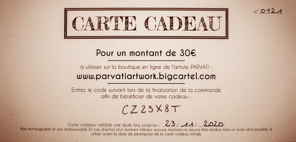 Image of CARTE CADEAU