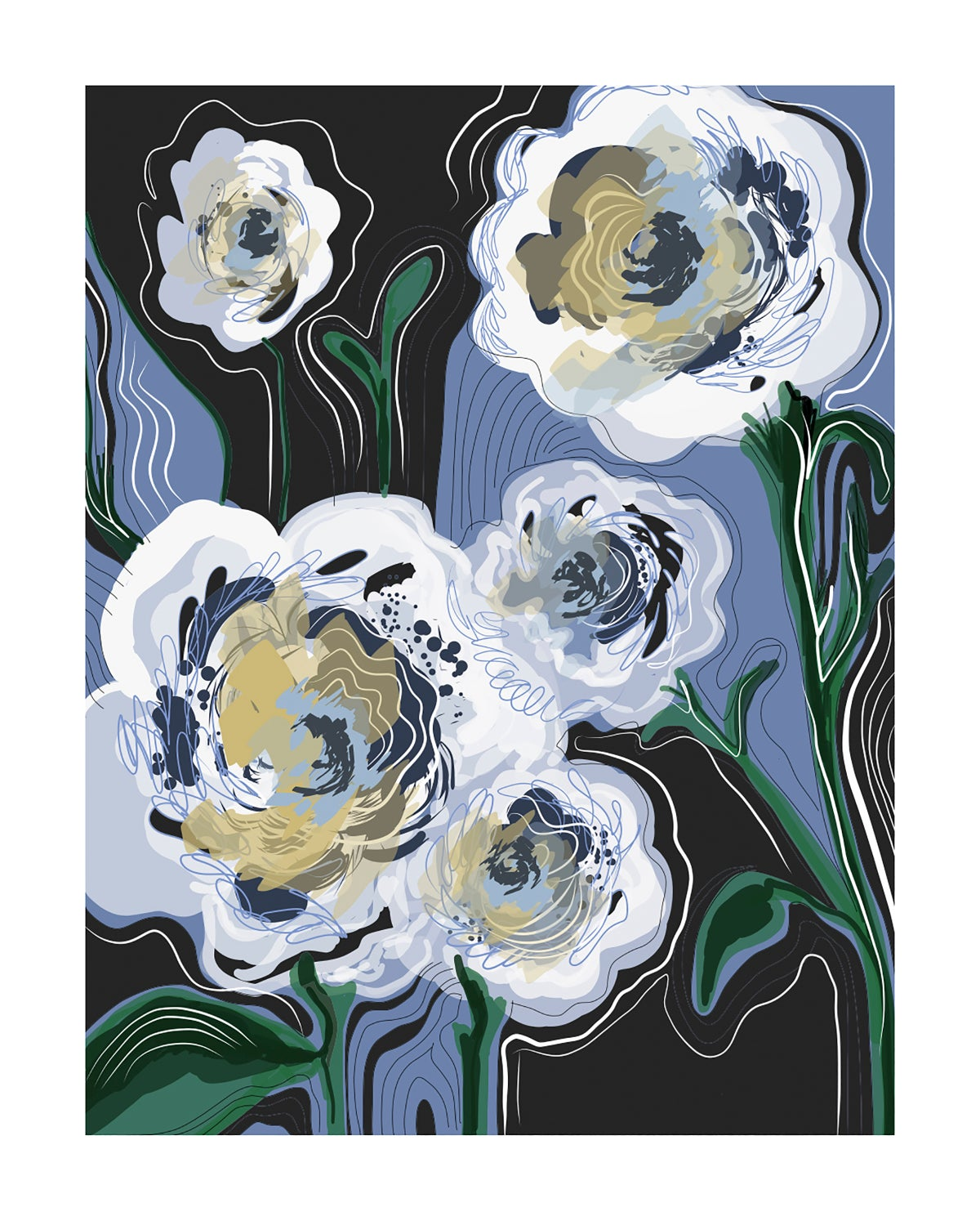 "Image of ""Melting Jazzy Flowers"" (2018) - Art Print"