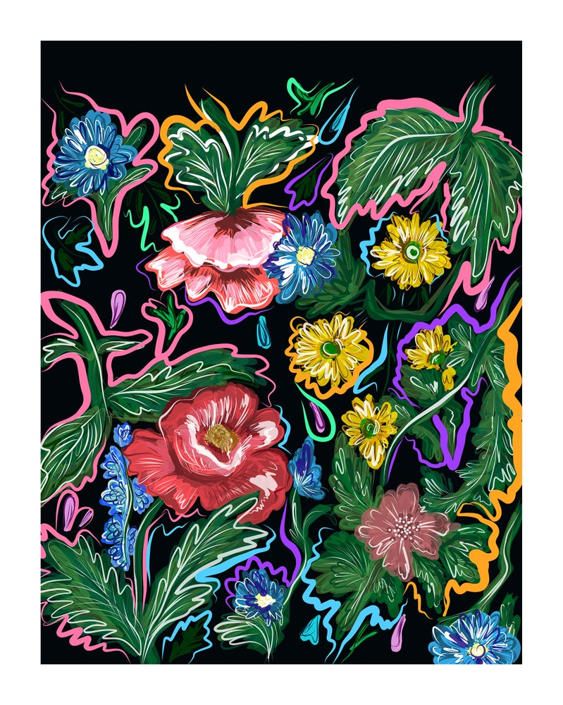 "Image of ""Electric Floral Fantasy"" (2018) - Art Print"
