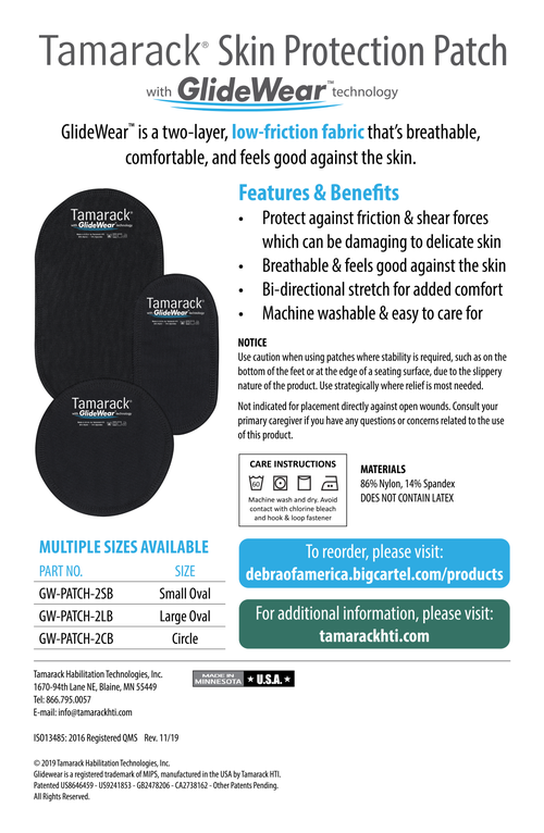 "Image of Skin Protection Patch with GlideWear TM Tech (2 Large 4.5"" x 7.5"" Ovals)"