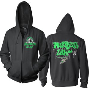 "Image of MURPHY'S LAW ""Graffiti"" Hooded Zipper Sweatjacket"