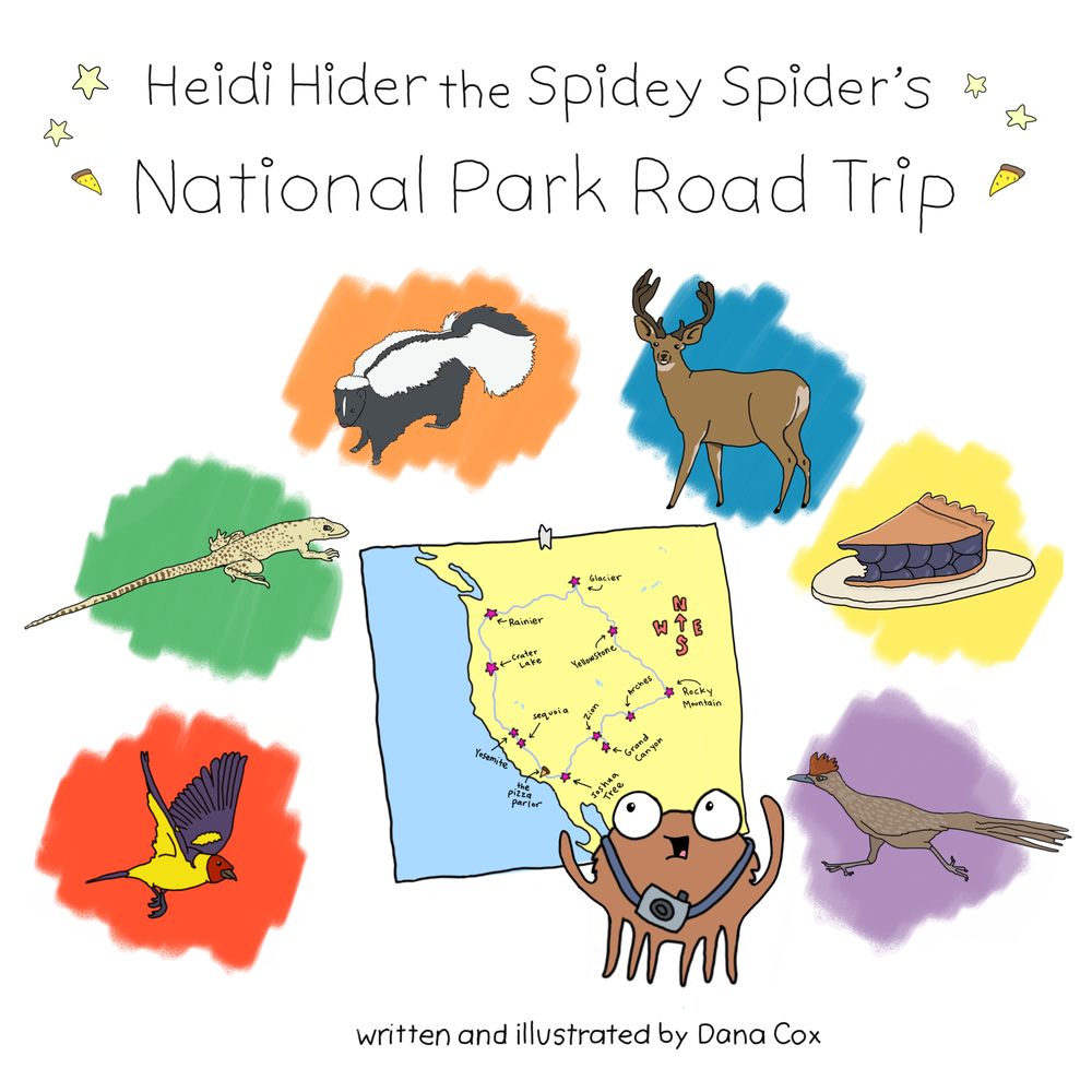 Image of Heidi Hider the Spidey Spider's National Park Road Trip