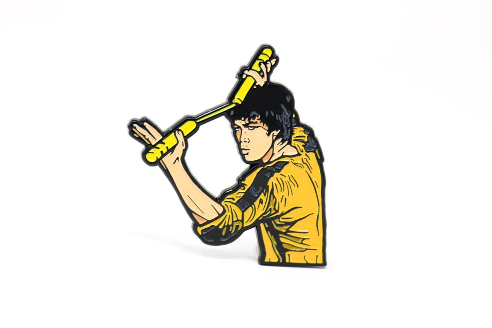 Image of Bruce Lee - Yellow Jumpsuit Enamel Pin
