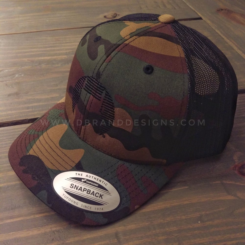 Image of D Brand Icon Camo Trucker Hat