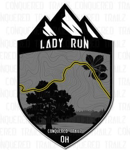"Image of ""Lady Run"" Trail Badge"