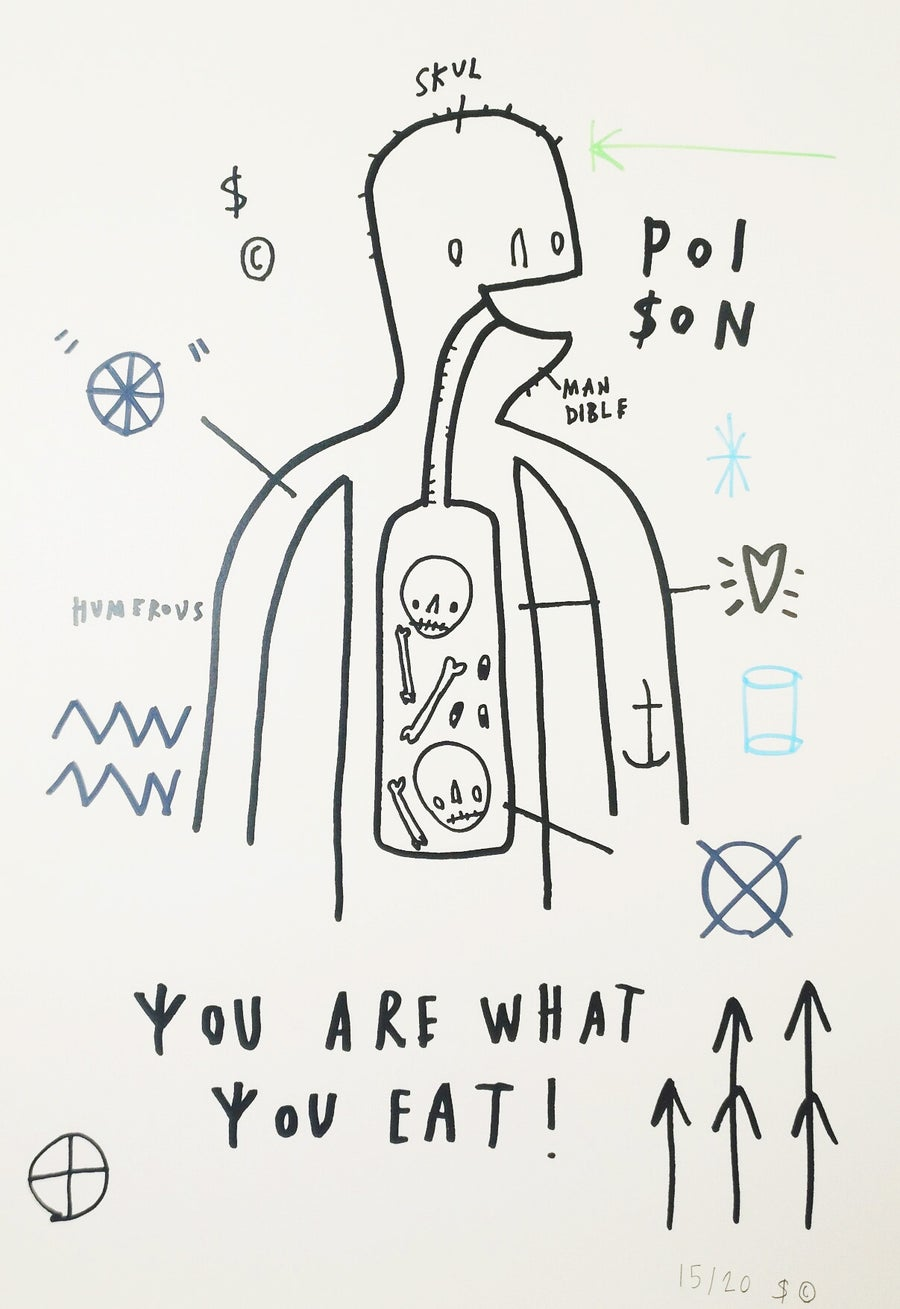 Image of 'You are what you eat' (White edition) by Skeleton Cardboard