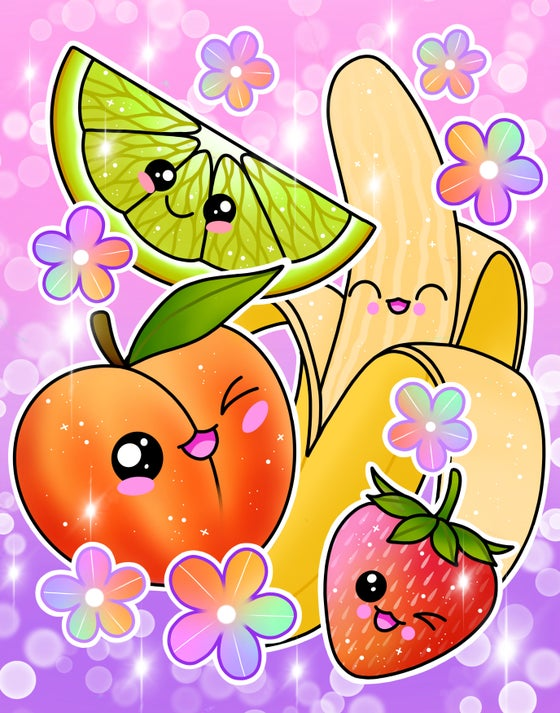 Image of Kawaii Fruit Print - Preorder