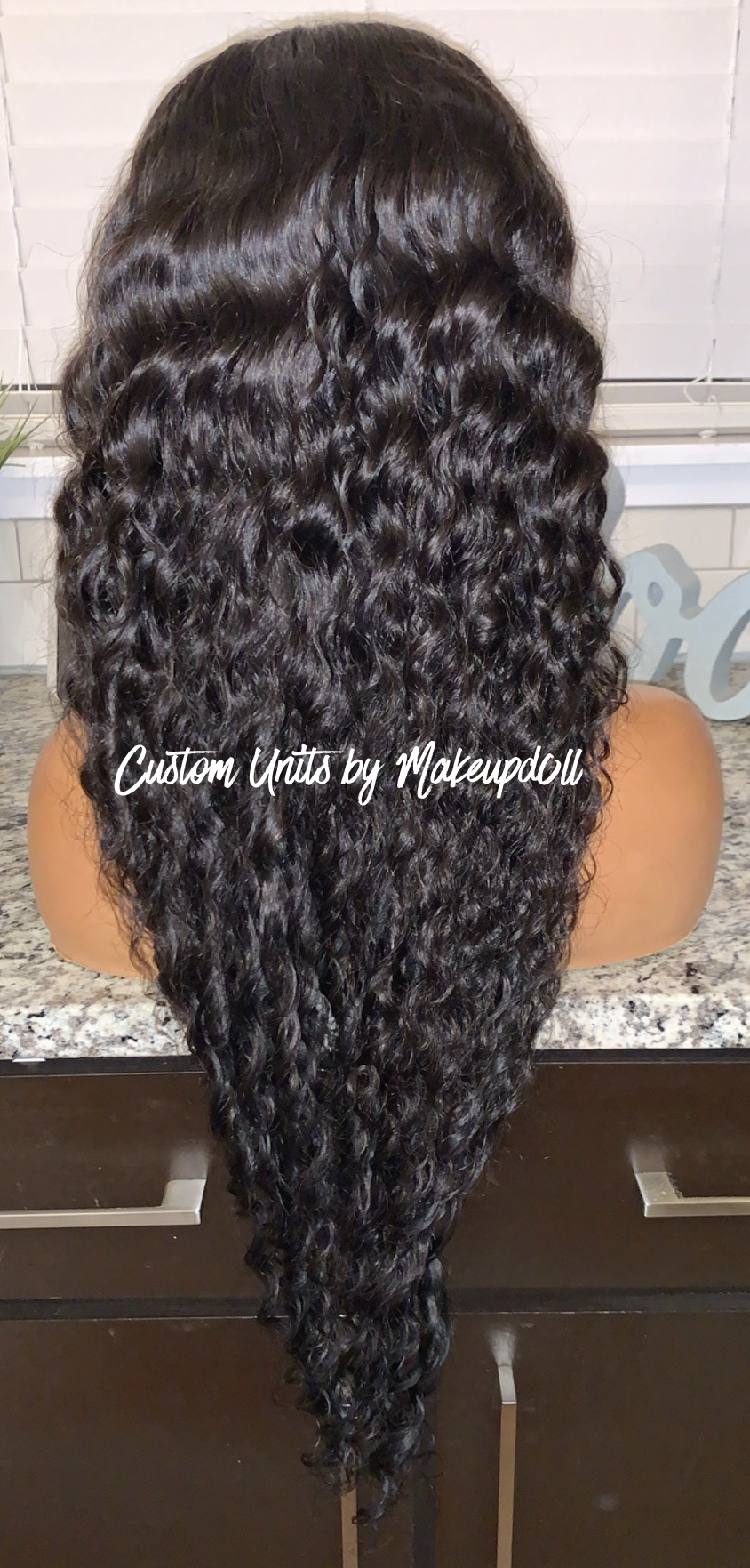 "Image of Indian Wavy/Curly 26"" Closure Wig!"