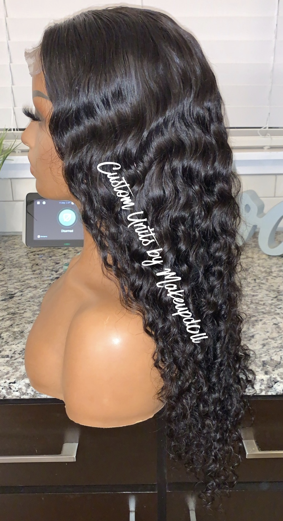 """Image of Indian Wavy/Curly 24"""" Closure Wig!"""