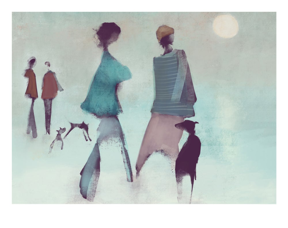 Image of Fine art print: Moonset