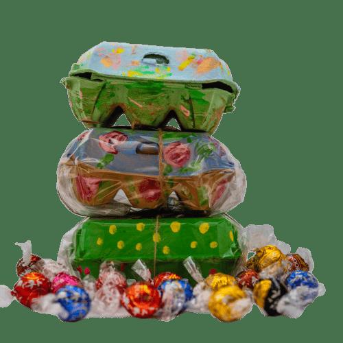 Image of Caja dulce pintada a mano - Caixa dolça pintada a mà