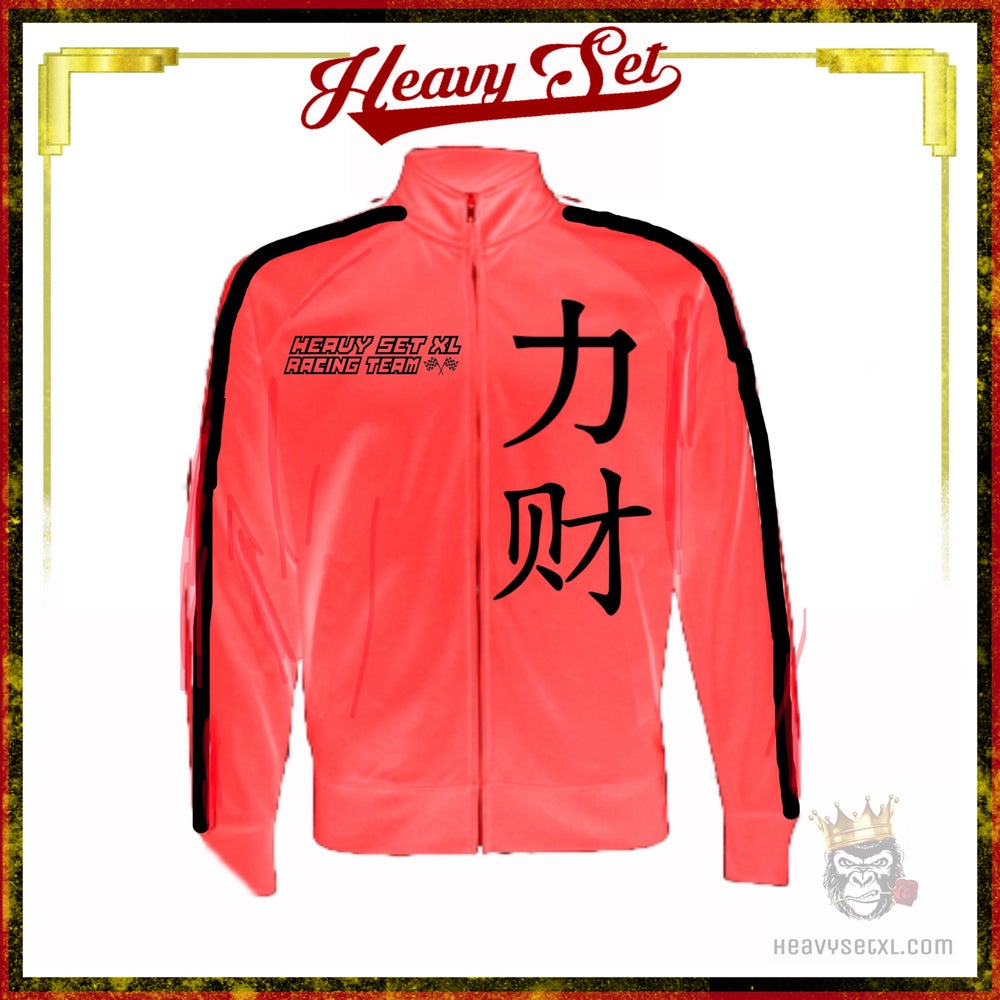 Image of HEAVY SET RACER JACKET CORAL (sizes L- 3x only)