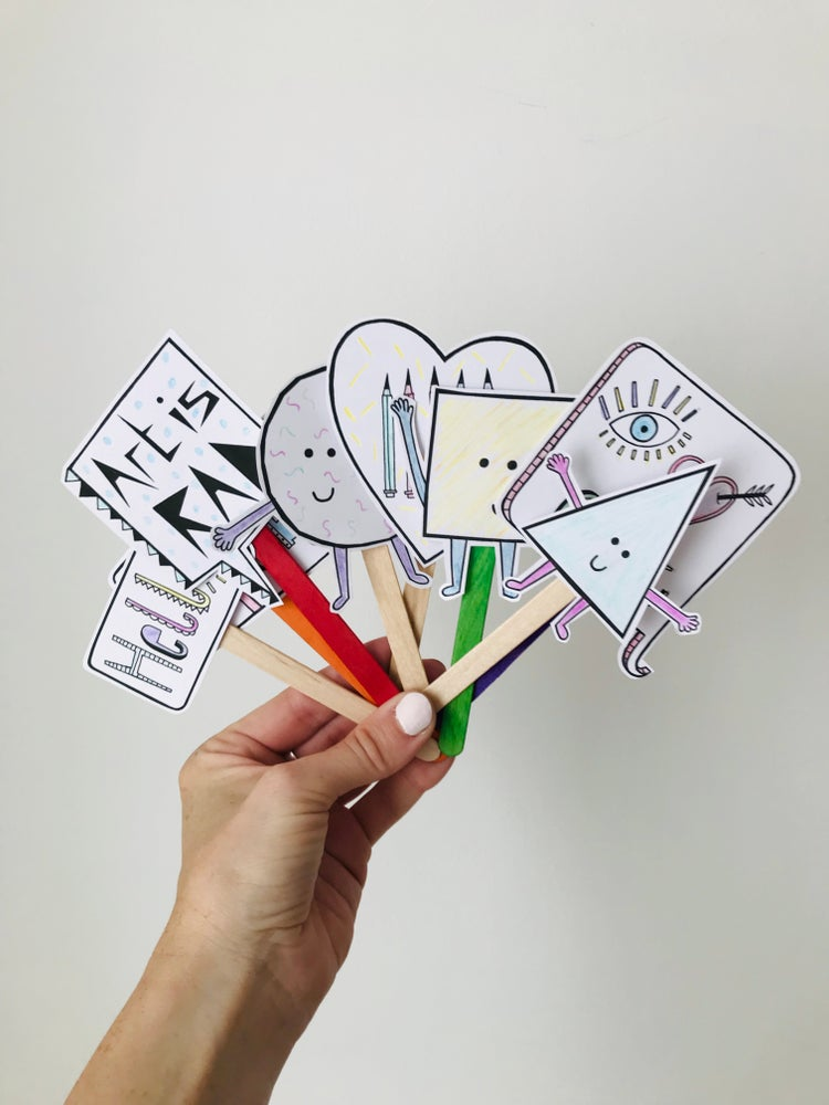 Image of SHAPES PUPPET ACTIVITY PACK