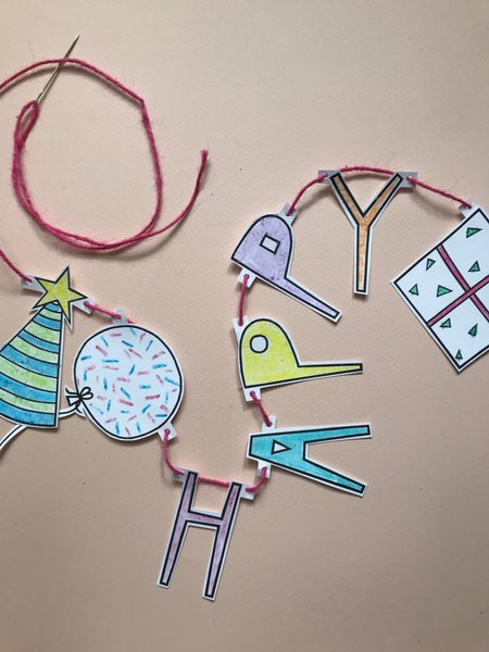 Image of BIRTHDAY GARLAND ACTIVITY PACK