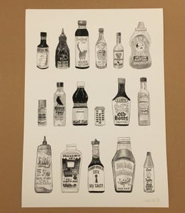 Image of A3 Condiments print