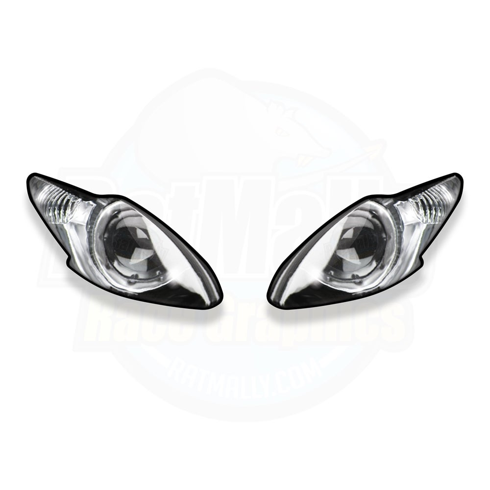 Image of Headlight Stickers to fit Triumph Daytona 675/R