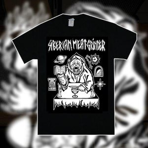 """Image of Siberian Meat Grinder """"Immolate Them All"""" - Black Tee"""