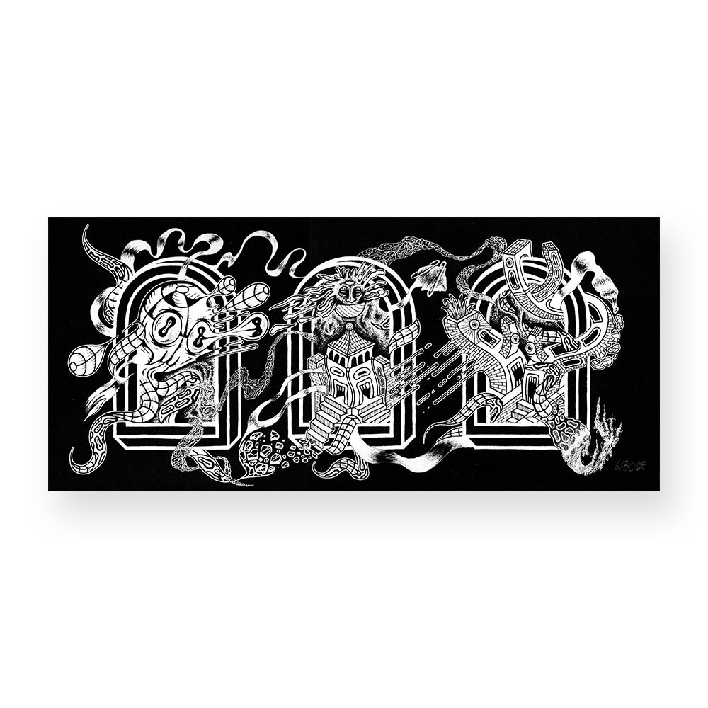 Image of Mecca x BLK skateshop Print