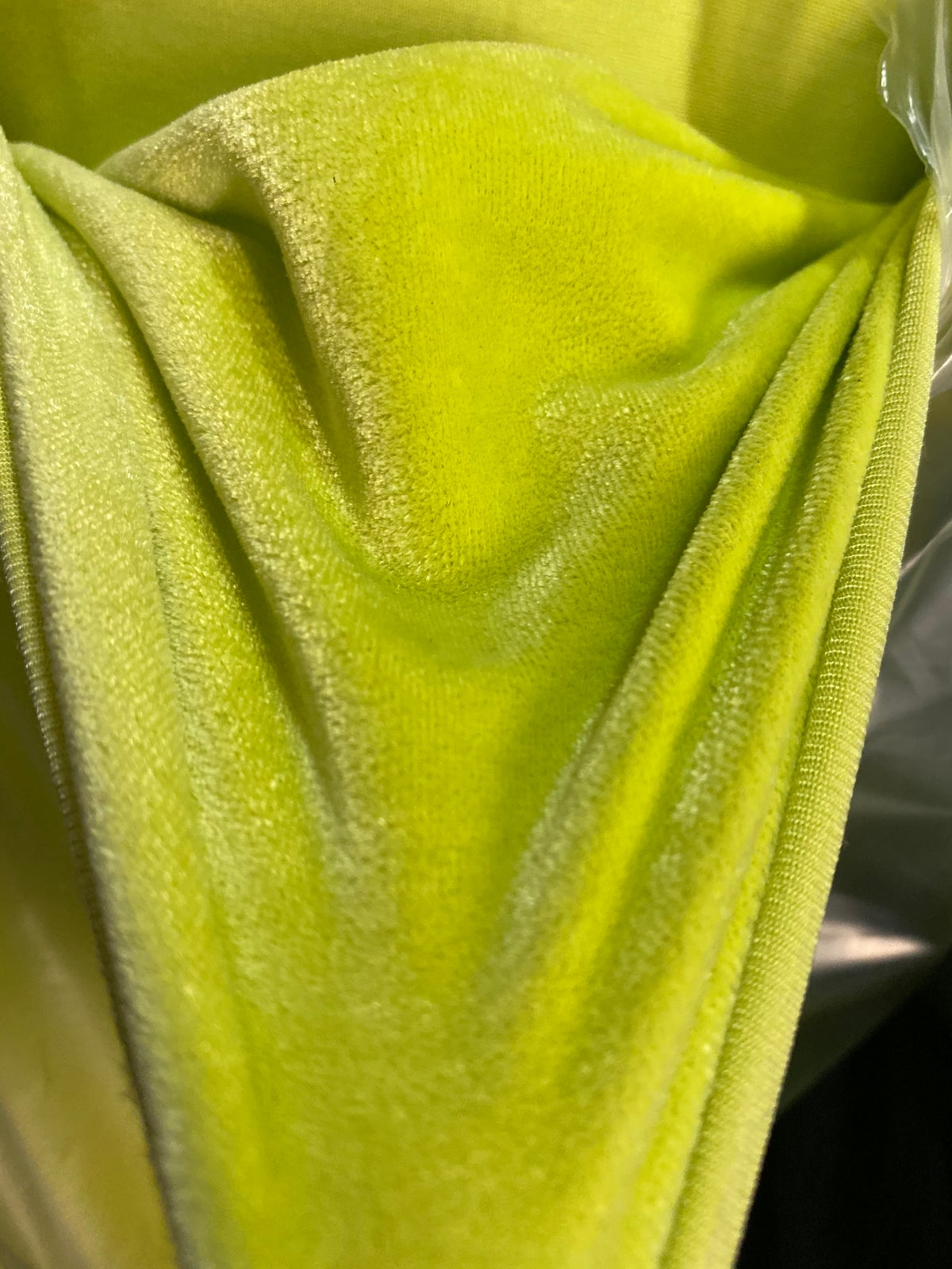 Image of LIME GREEN VELVET SET, FESTIVAL FASHION
