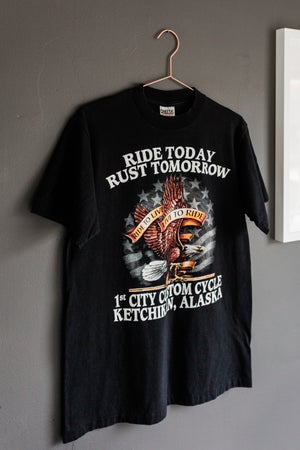 Image of 90s Ride Today, Rust Tomorrow Tee