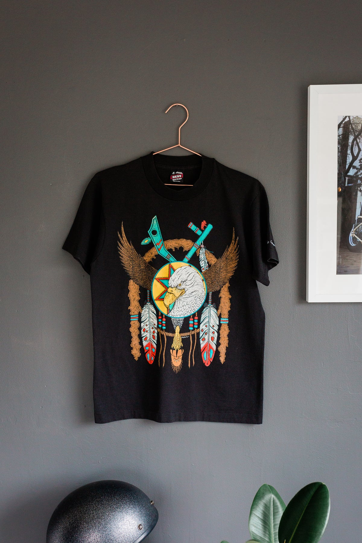 Image of Vintage 1980's 'Eagle VS Feathers' Tee