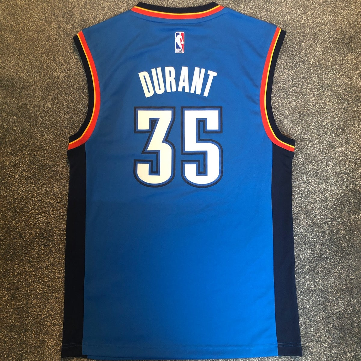 Image of Adidas Oklahoma City Thunder Replica NBA Jersey KD No.35