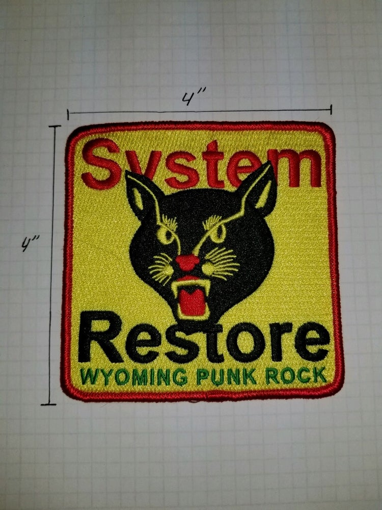 Image of SR Black Cat Embroidered Patch