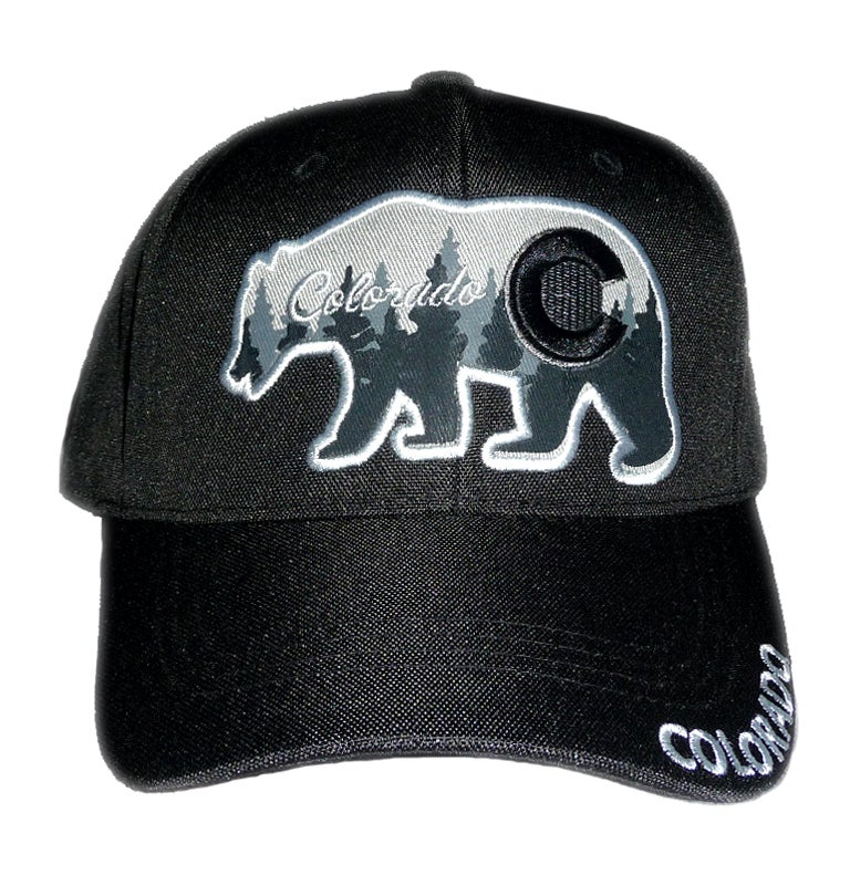 Image of COLORADO BEAR DADS HAT BLACK WITH GREY SNAPBACK HAT